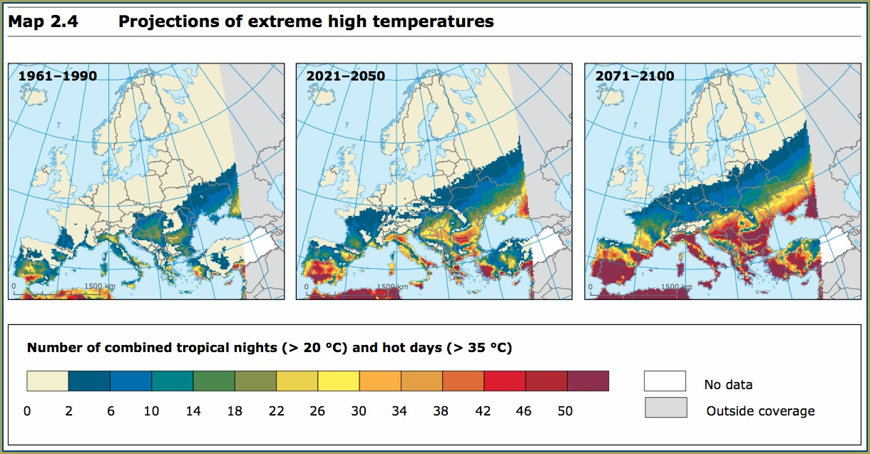 Climate Change Prediction Map