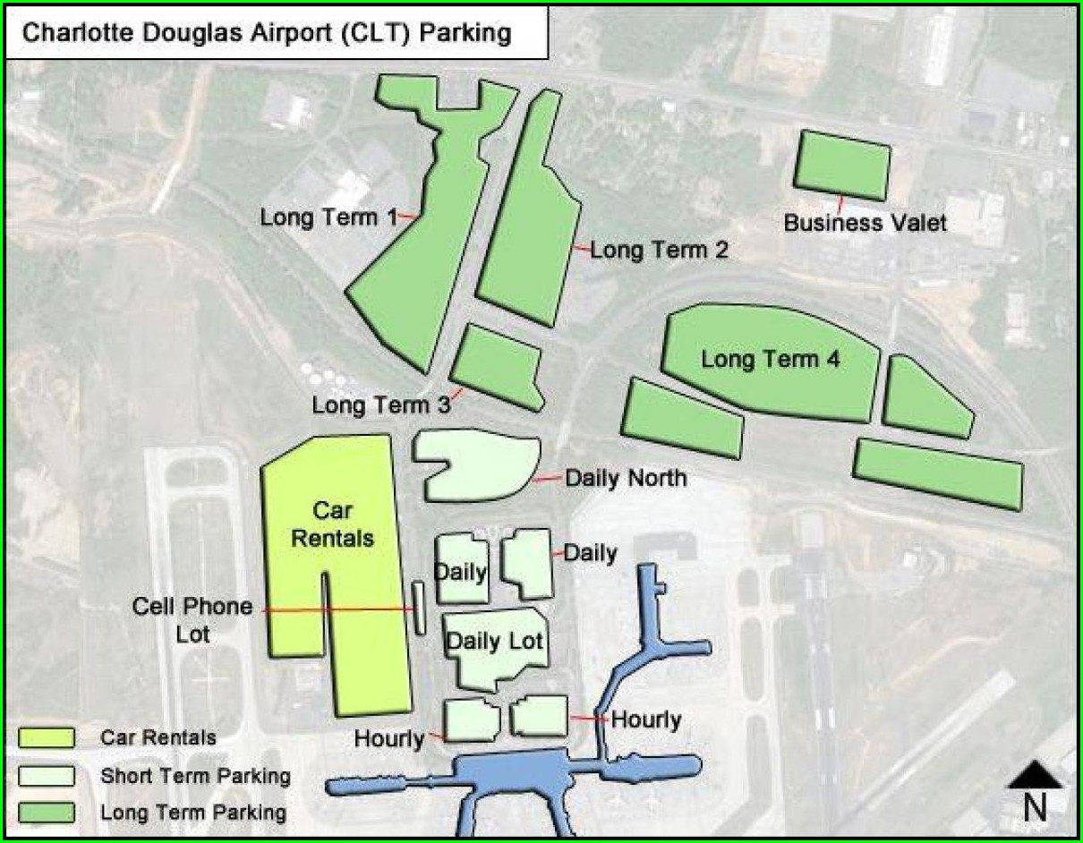 Clt Long Term Parking Map