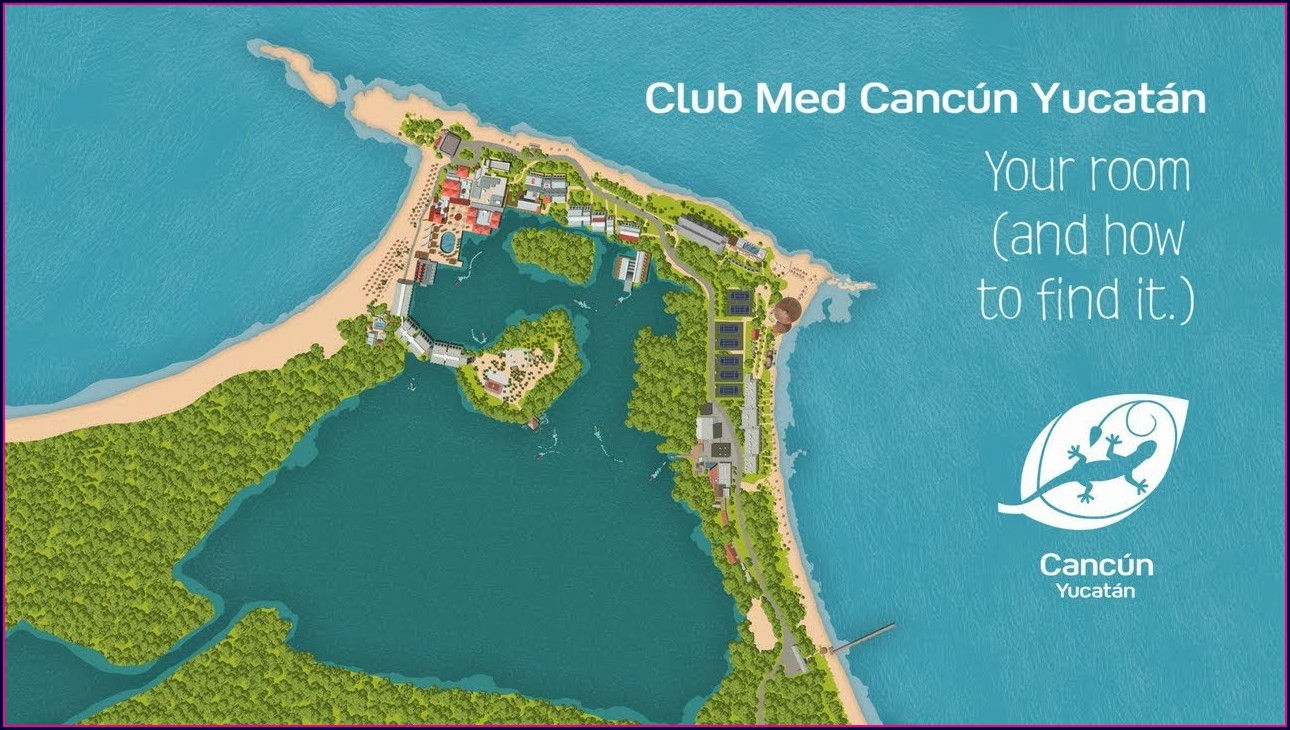 Club Med Cancun Map Of Resort