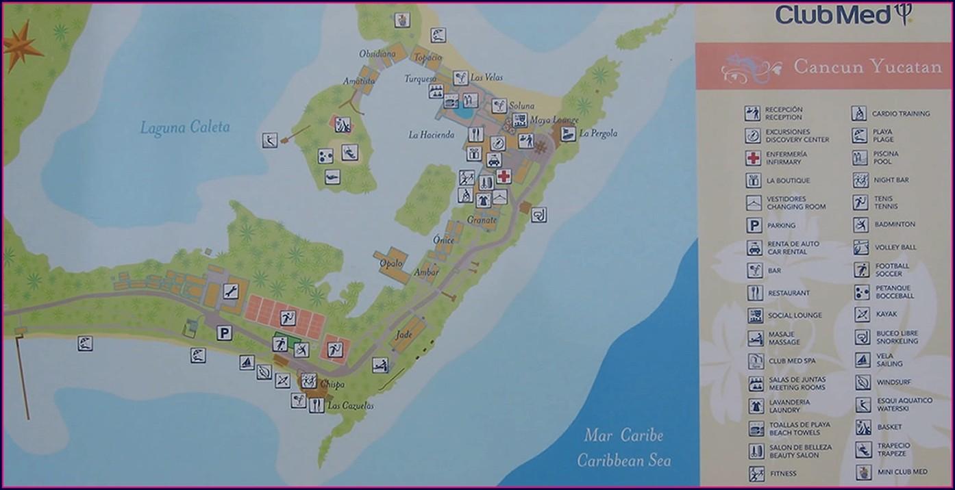 Club Med Cancun Resort Map