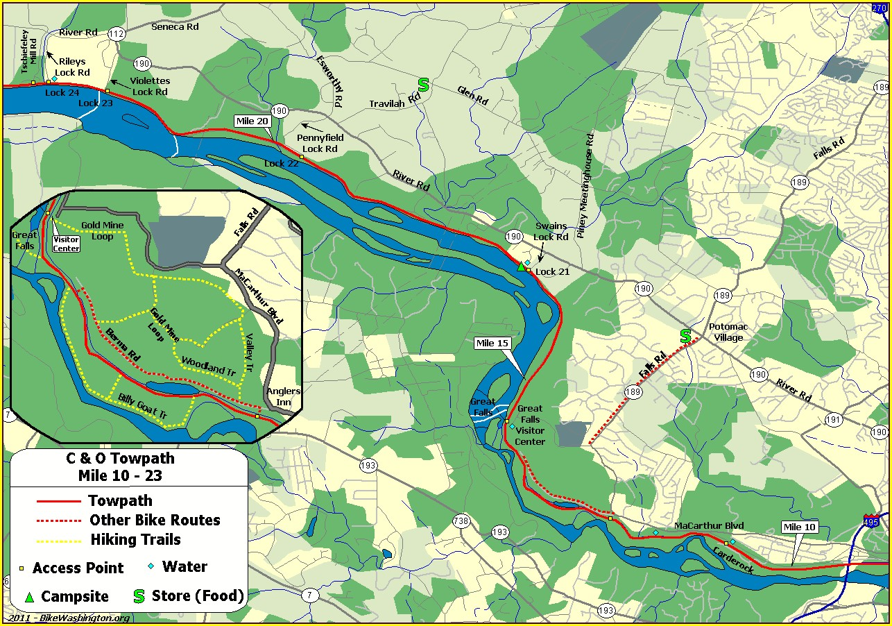 Co Canal Mileage Map