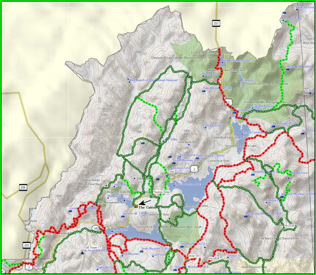 Colebrook Nh Snowmobile Trail Map