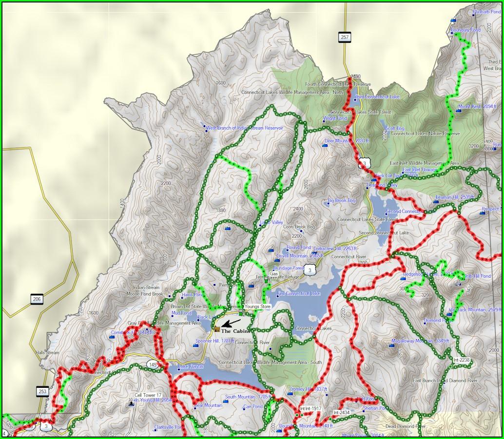 Colebrook Nh Snowmobile Trail Map