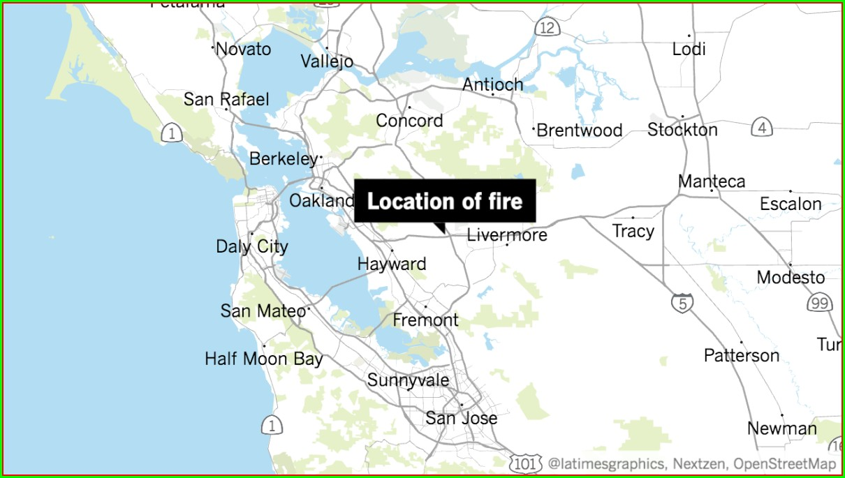 Colleen Fire San Jose Map