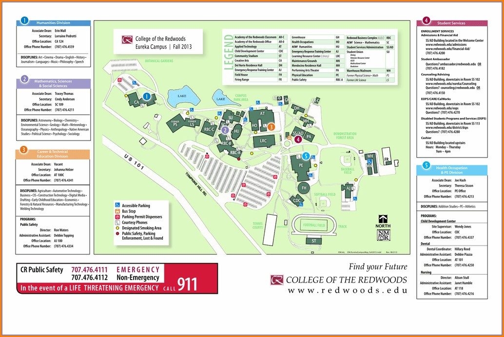 College Of The Redwoods Campus Map