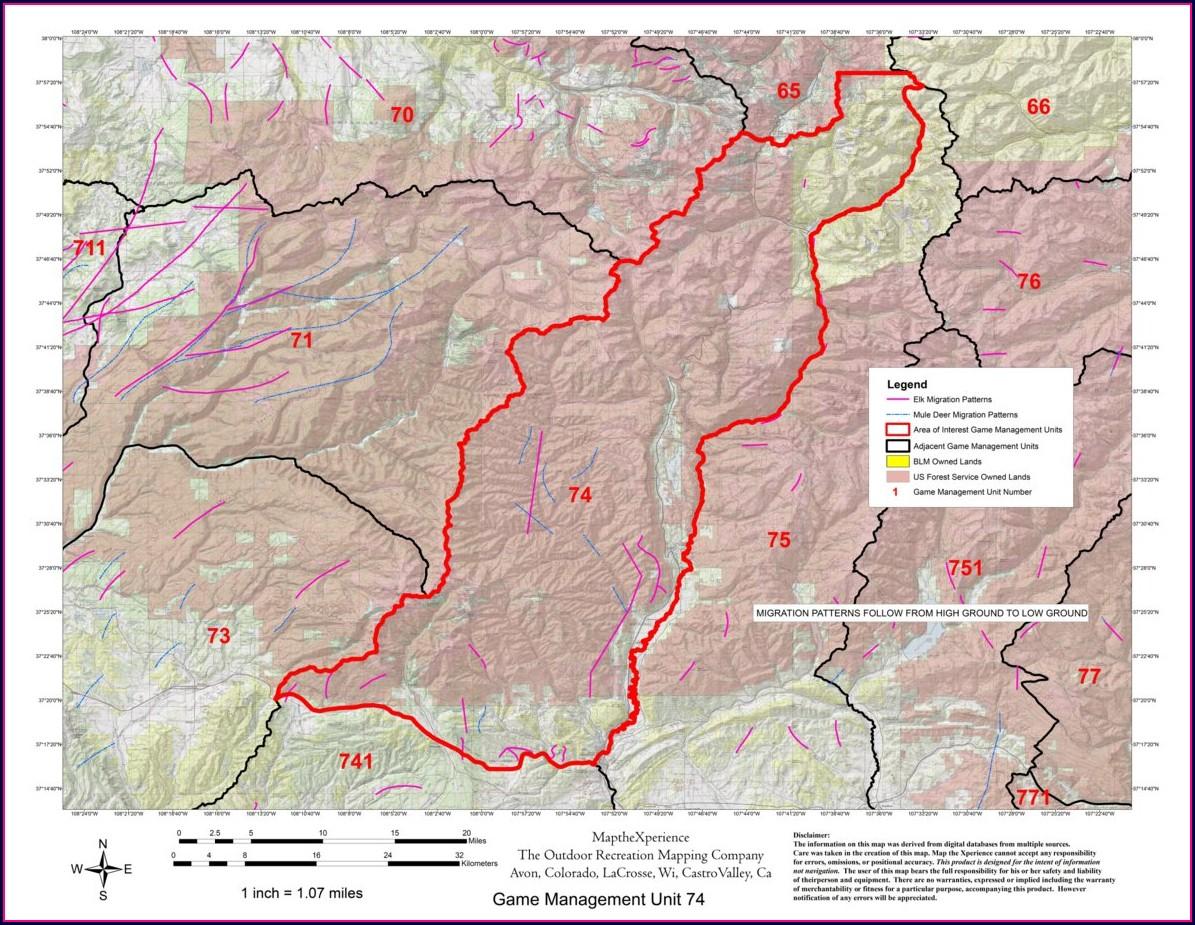 Colorado Elk Herd Migration Map