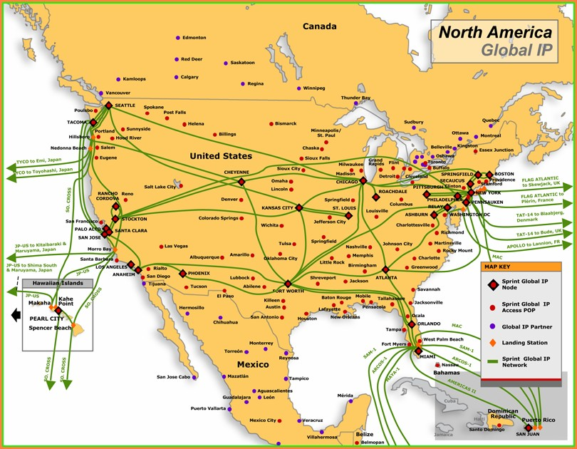 Comcast Fiber Network Map