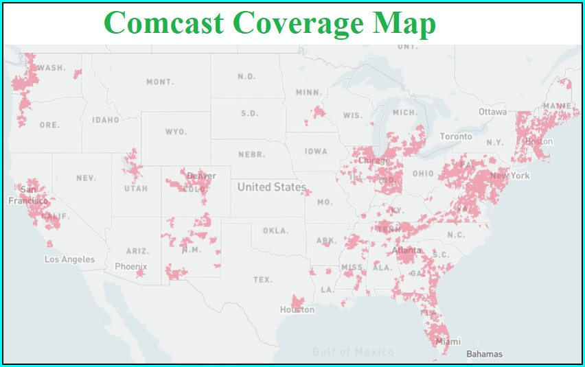 Comcast Xfinity Availability Map