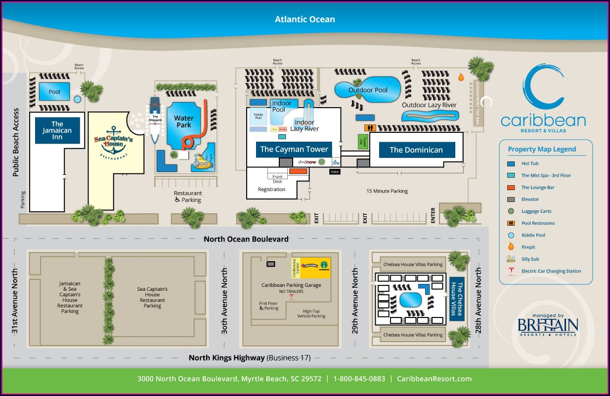 Compass Cove Resort Map