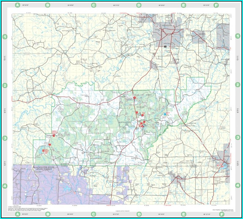 Conecuh National Forest Hunting Map