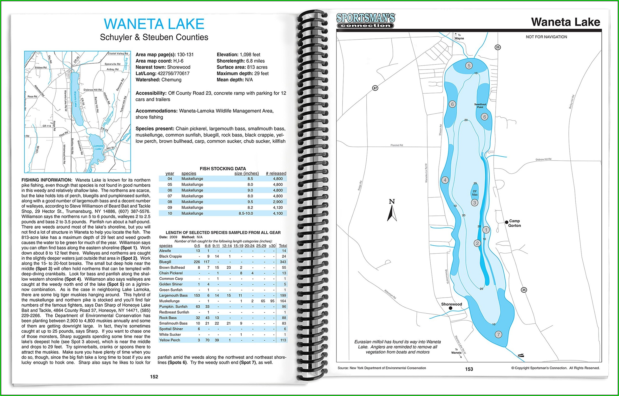 Conesus Lake Depth Map