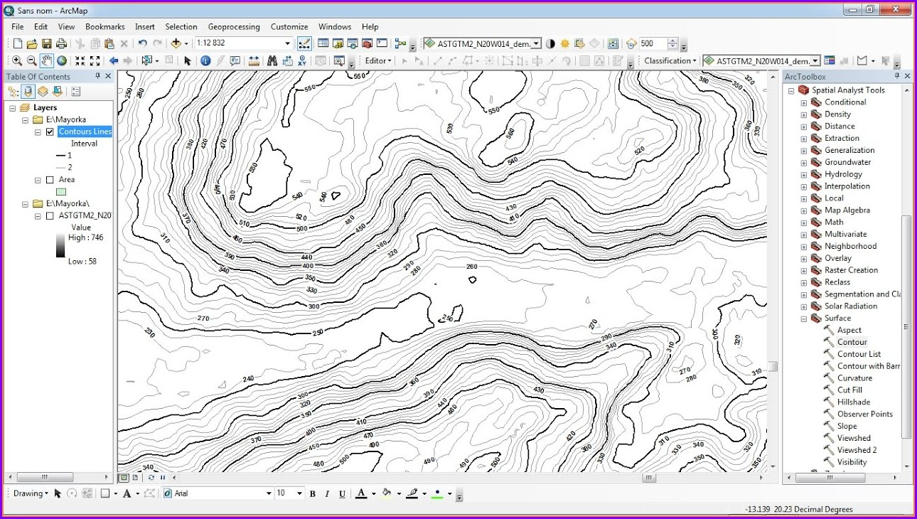 Contour Map Creator Not Working