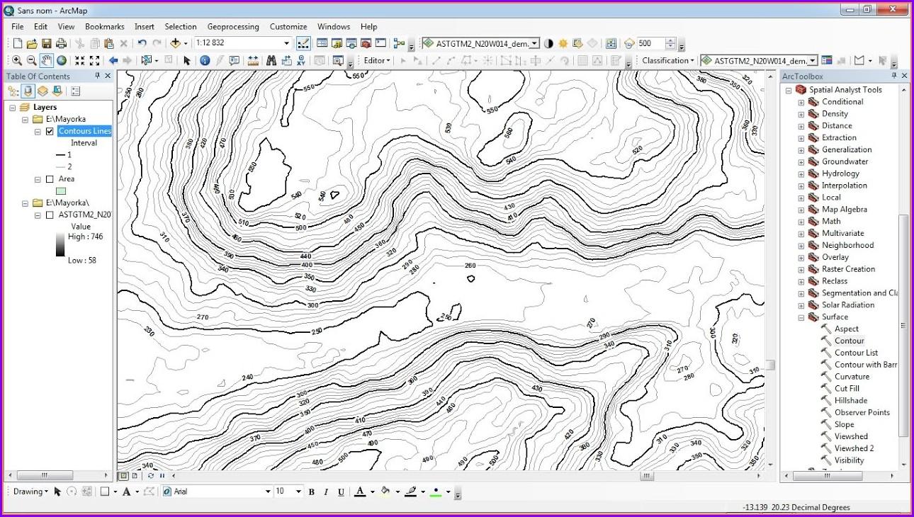 Contour Map Creator Not Working