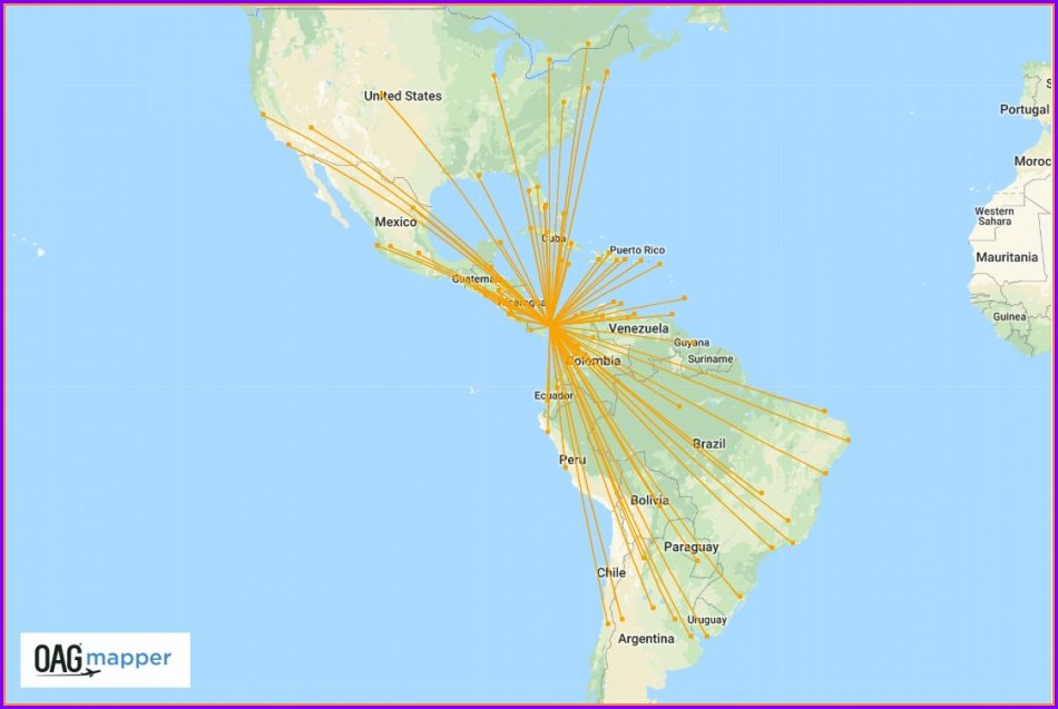 Copa Airlines Route Map 2019