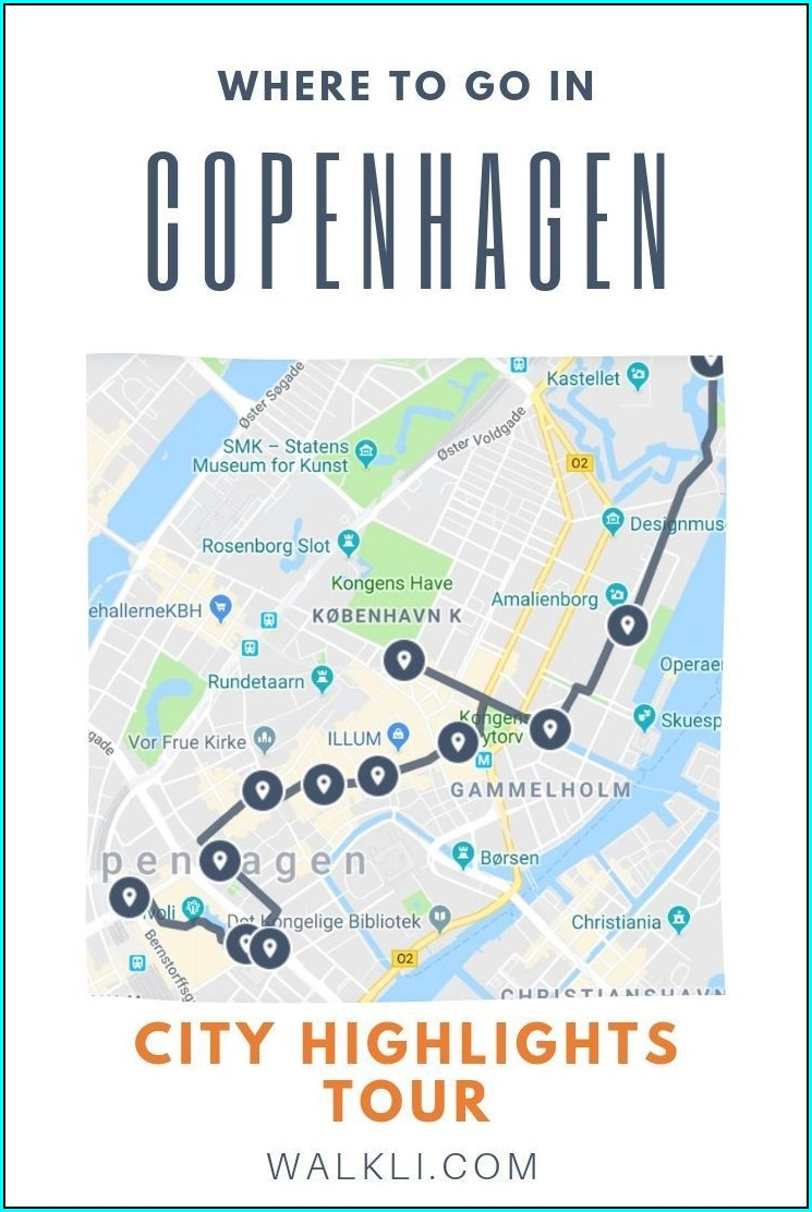 Copenhagen Self Guided Walking Tour Map
