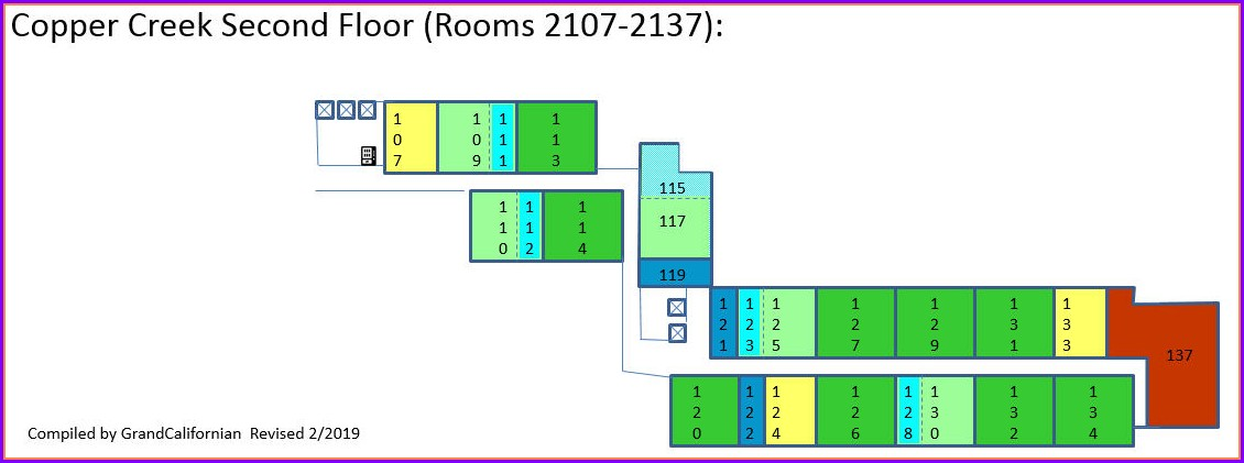 Copper Creek Villas Room Map