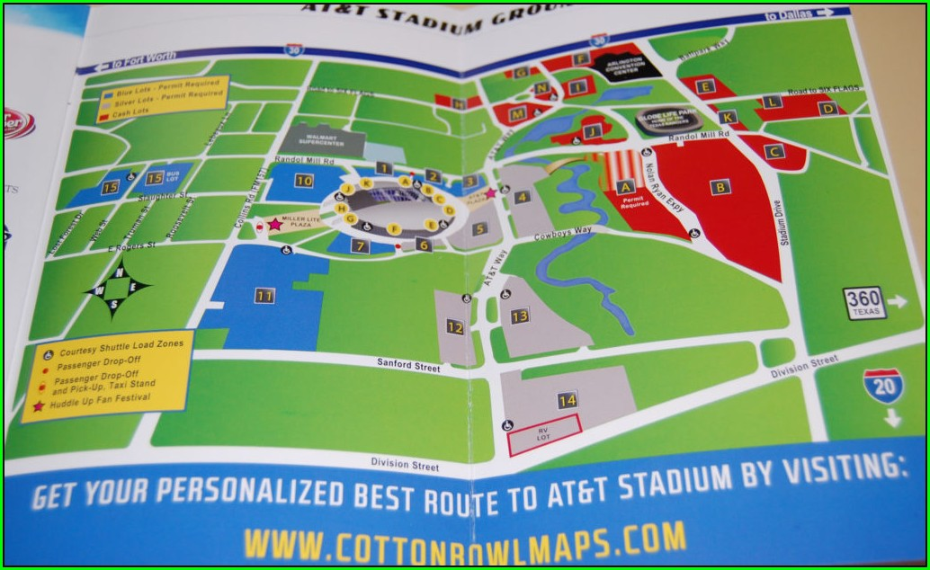 Cotton Bowl Parking Map