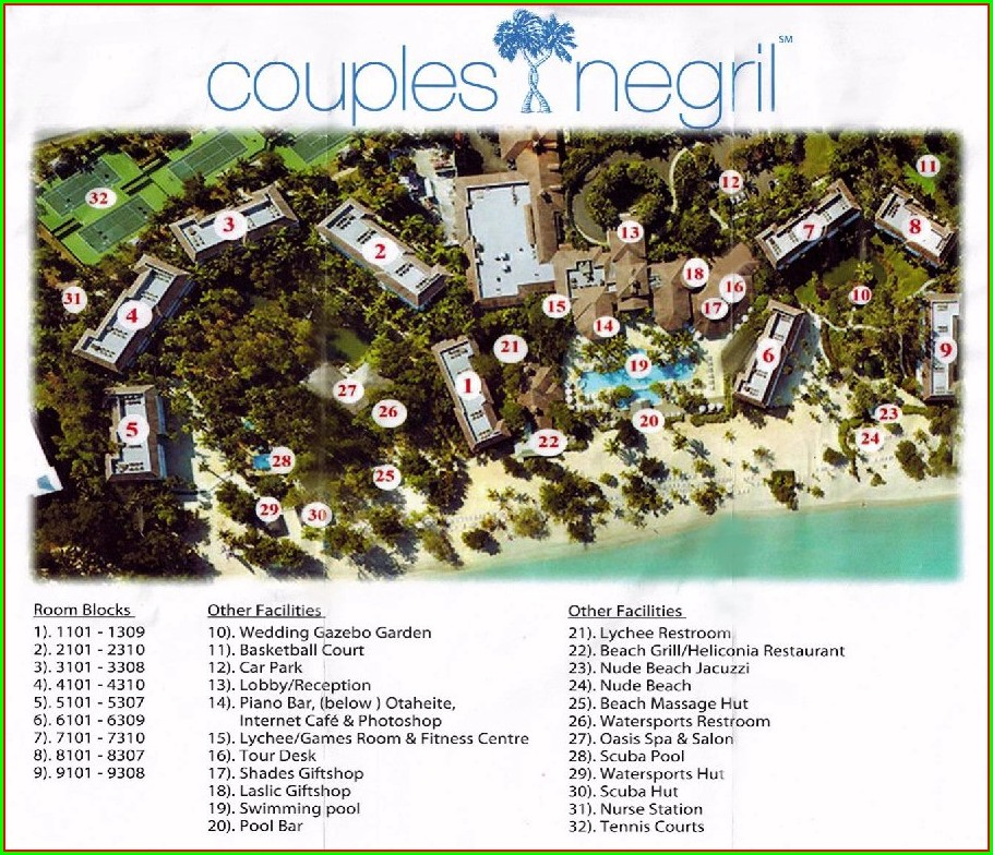Couples Negril Resort Map