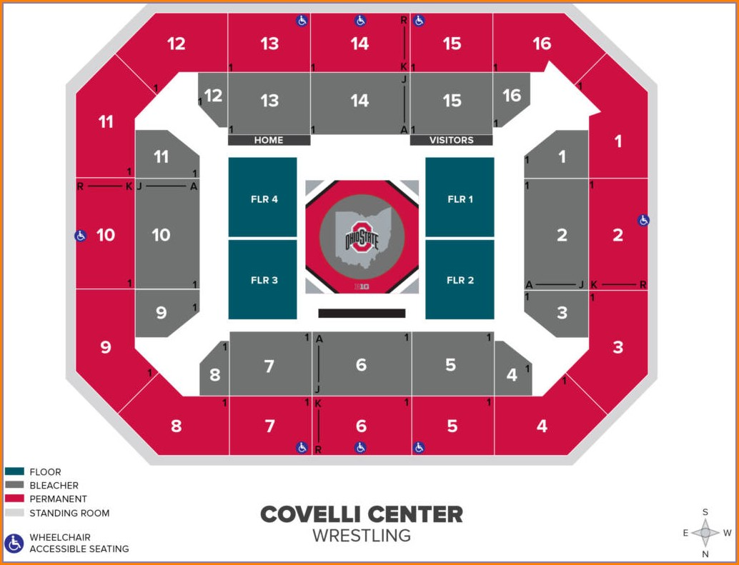 Covelli Center Seat Map
