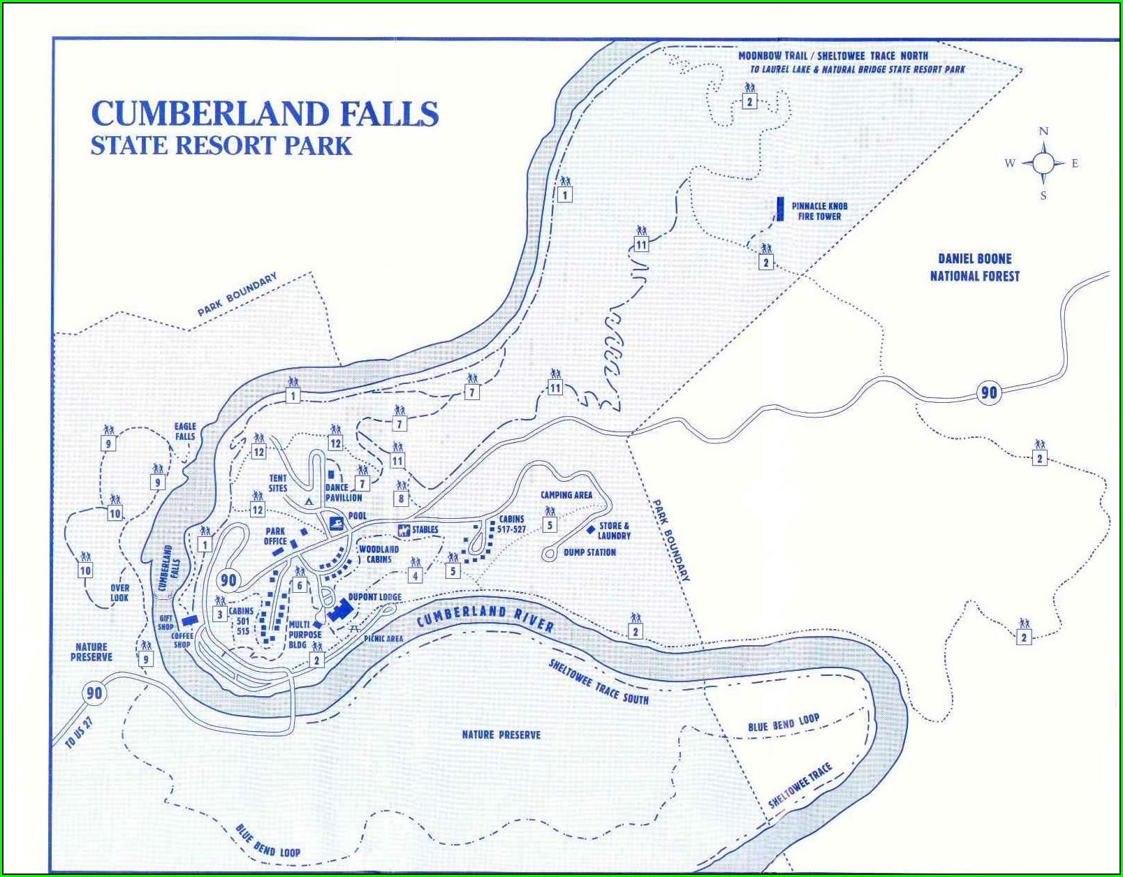 Cumberland Falls State Resort Park Map