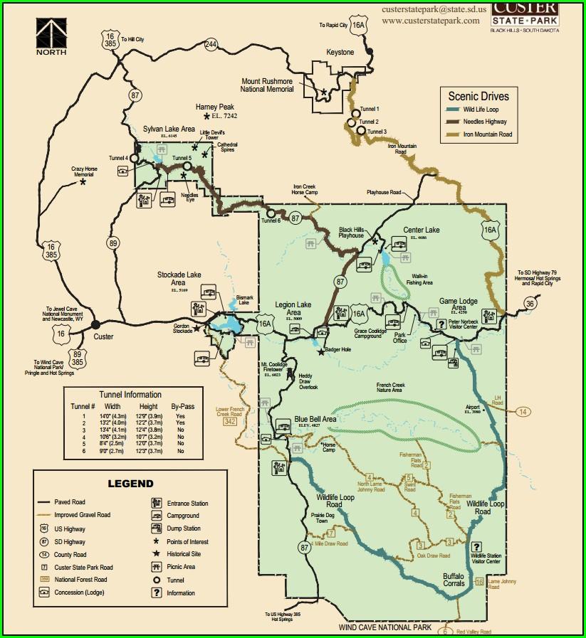 Custer State Park Wildlife Loop Map