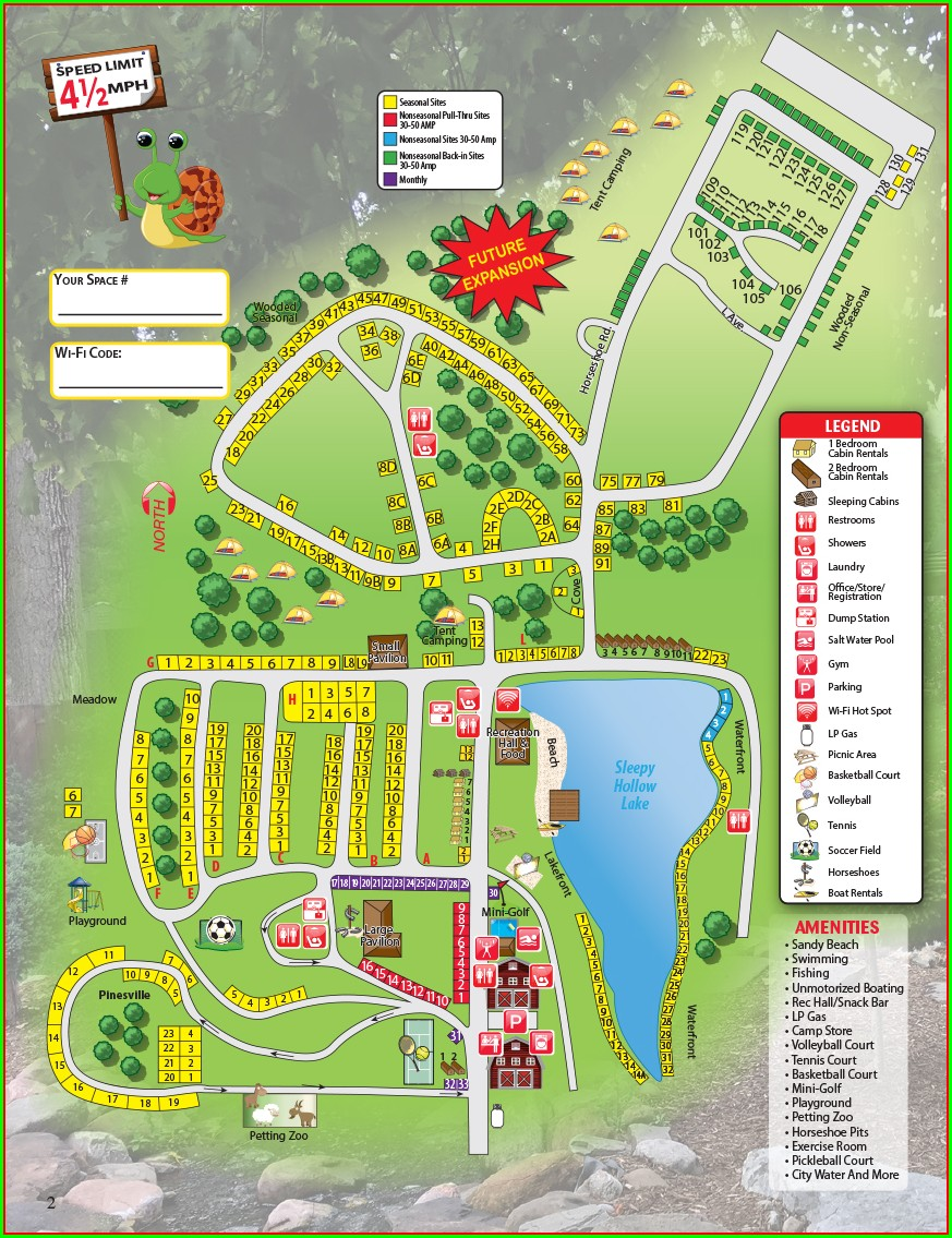 Darien Lake Campground Map 2019
