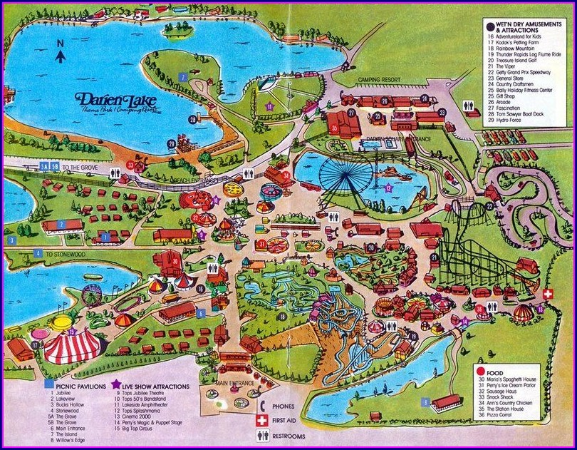 Darien Lake Camping Map