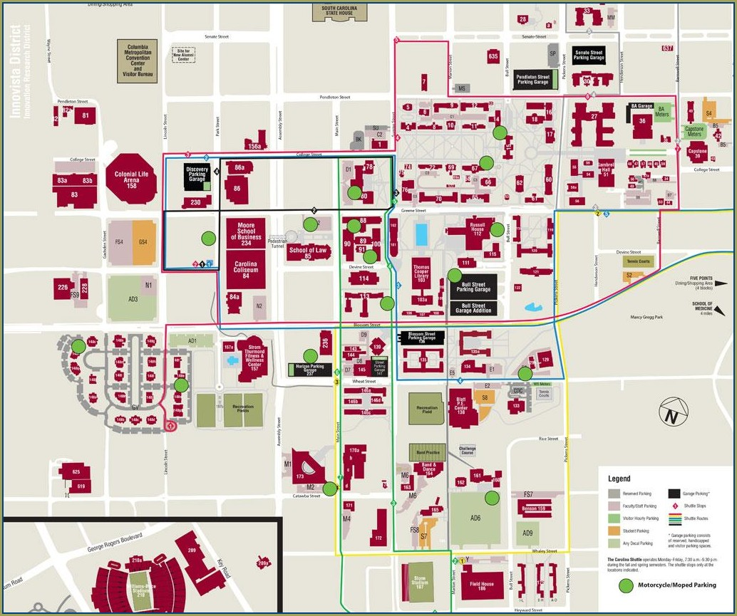 Darla Moore School Of Business Map