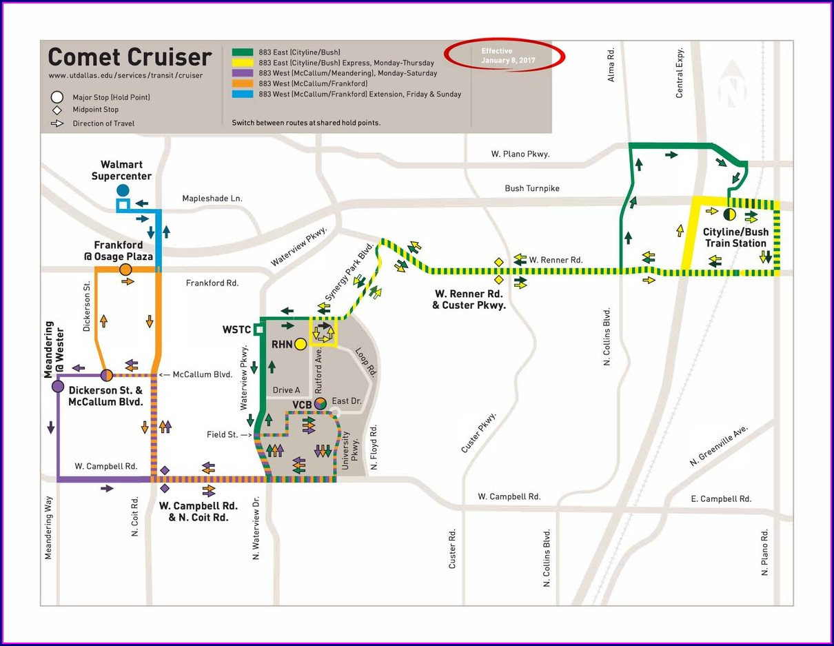 Dart Bus Routes Map