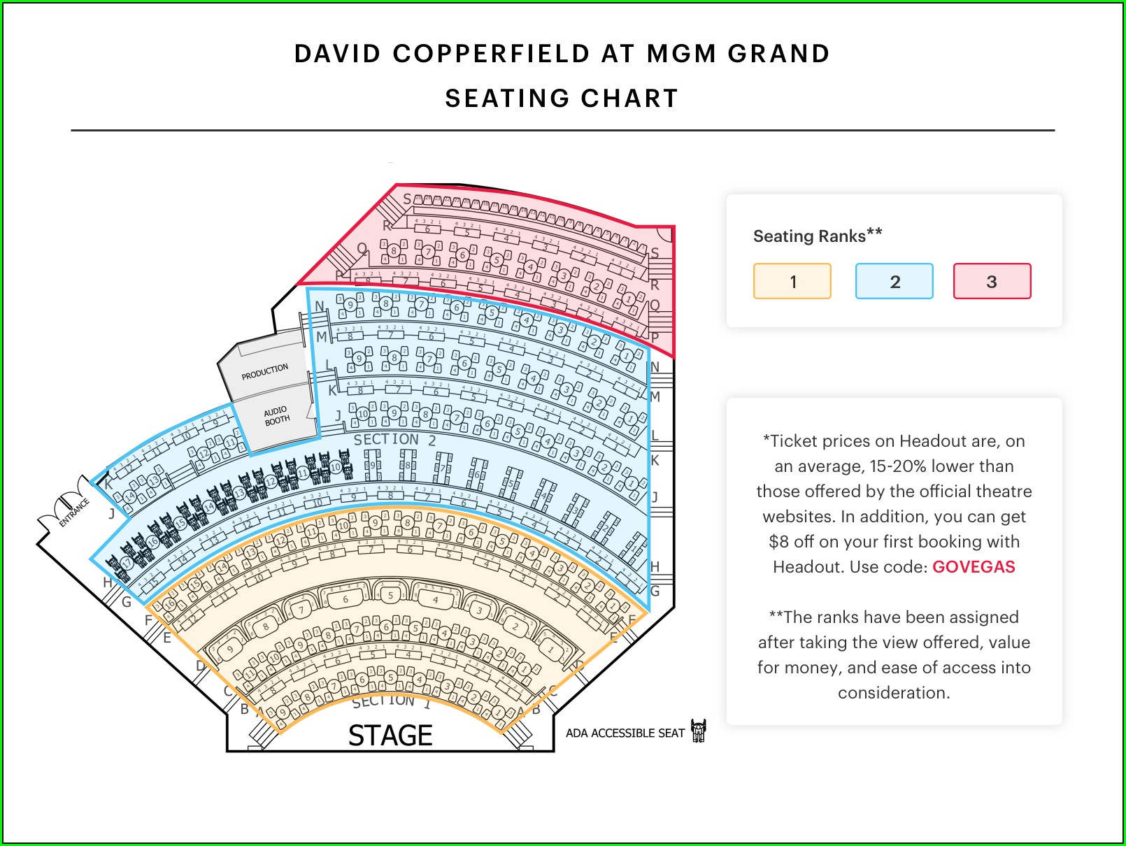 David Copperfield Seat Map