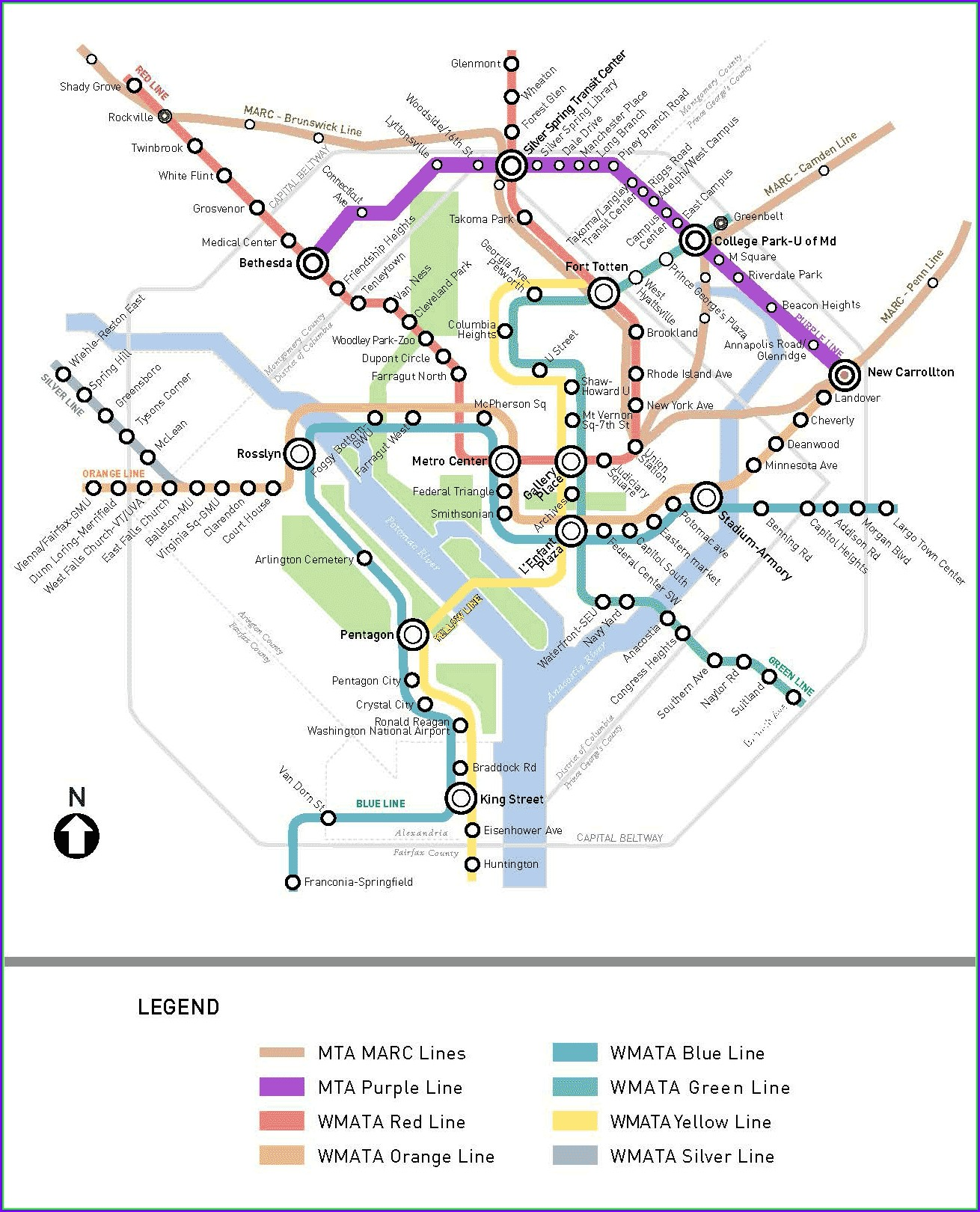 Dc Metro Purple Line Route Map
