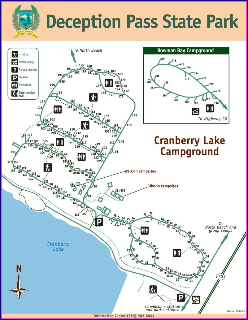 Deception Pass State Park Camping Map