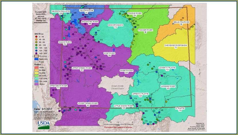 Deer Region Wyoming Deer Unit Map