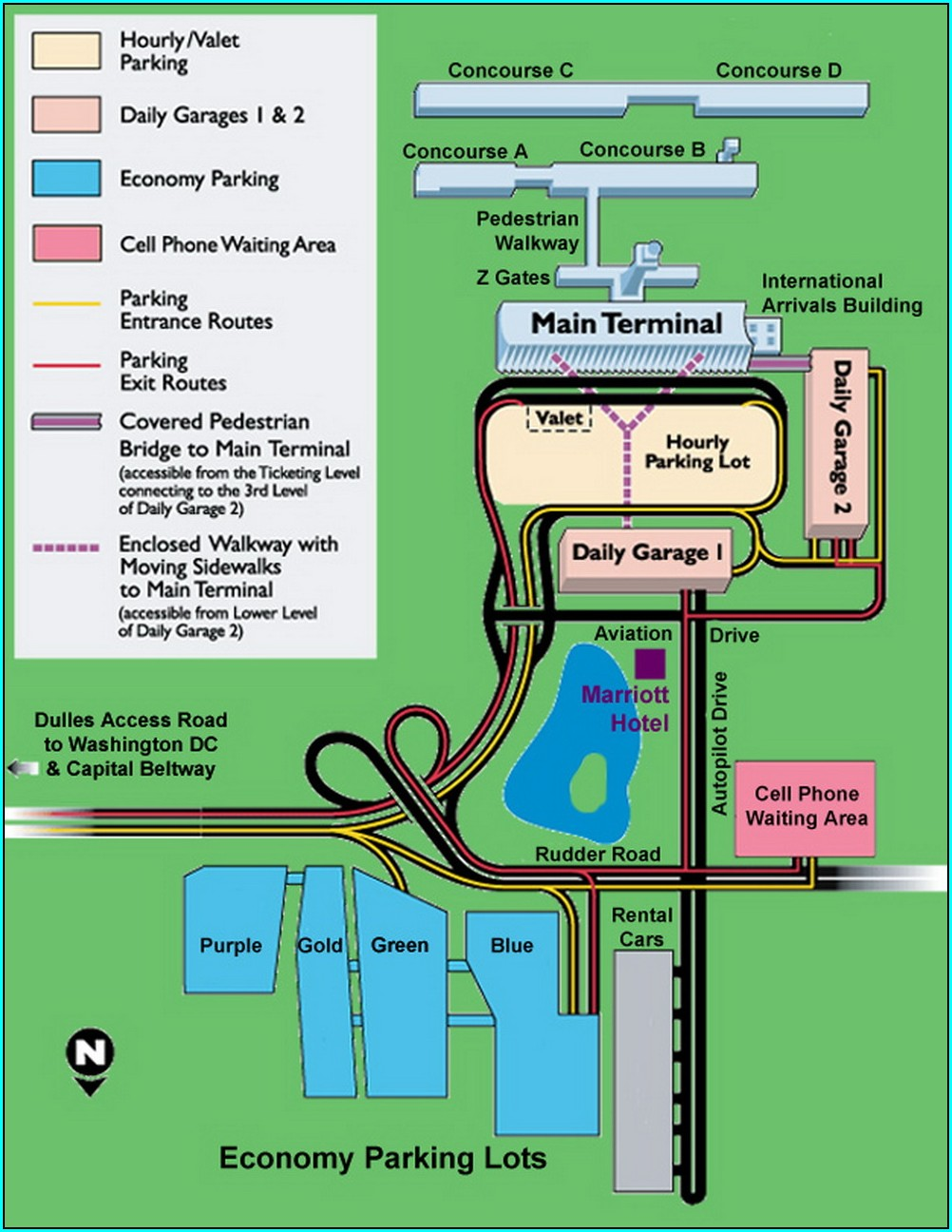 Dfw Long Term Parking Map