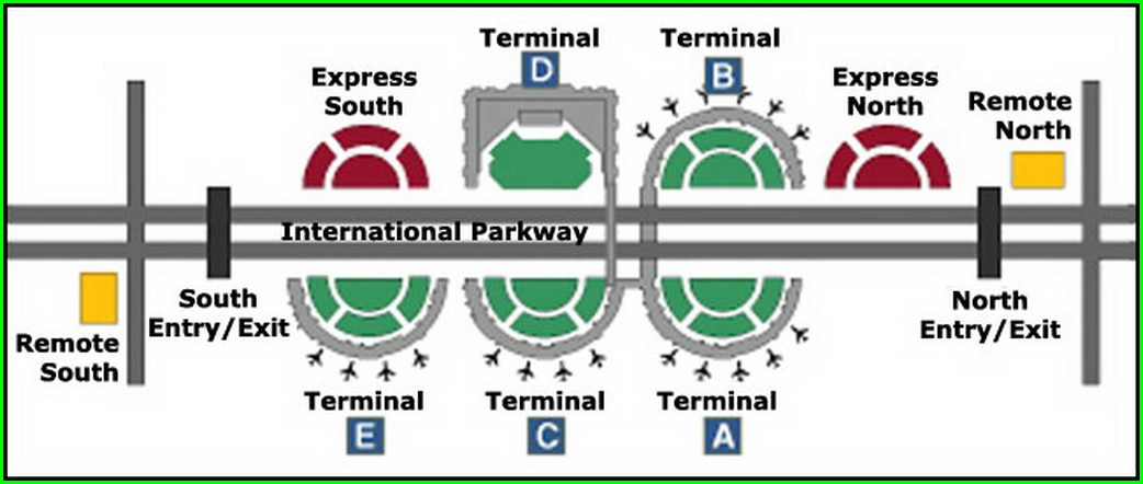 Dfw Terminal C Parking Map