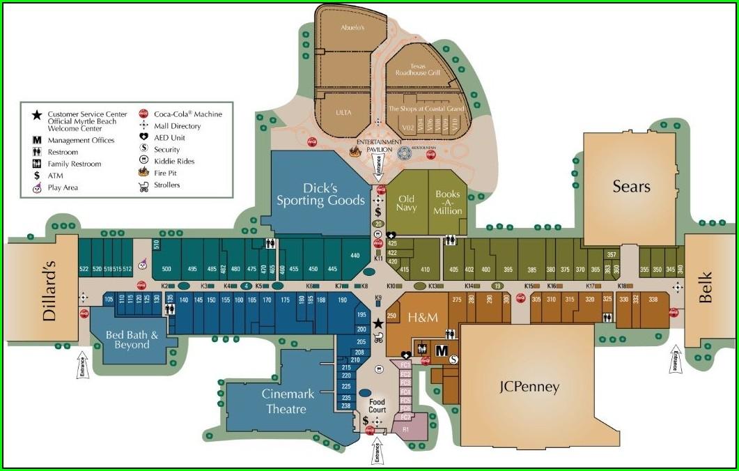 Directory Southlake Mall Map