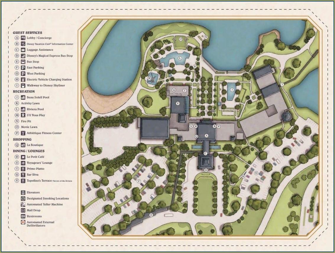 Disney All Star Movie Resort Map