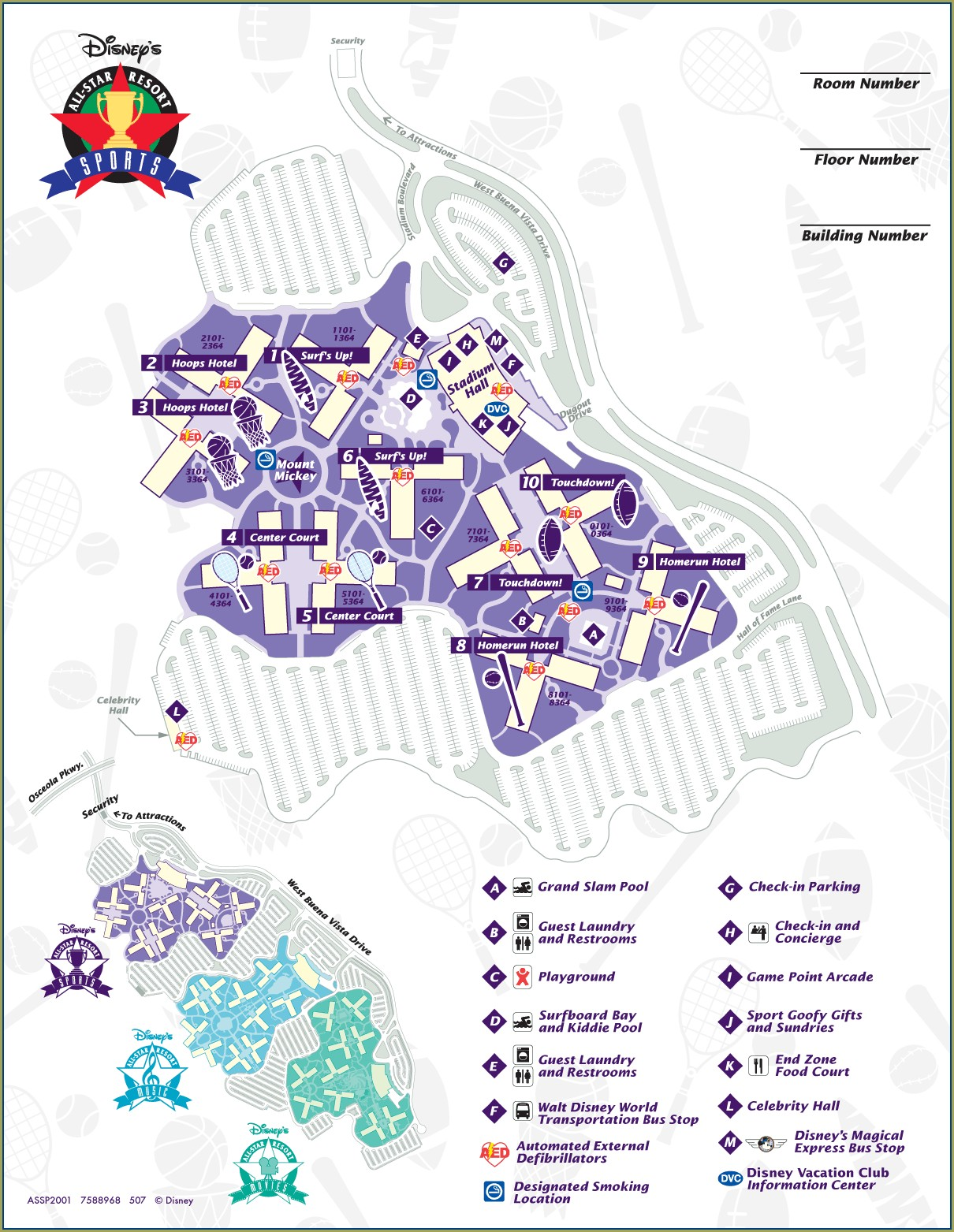 Disney All Star Resort Map