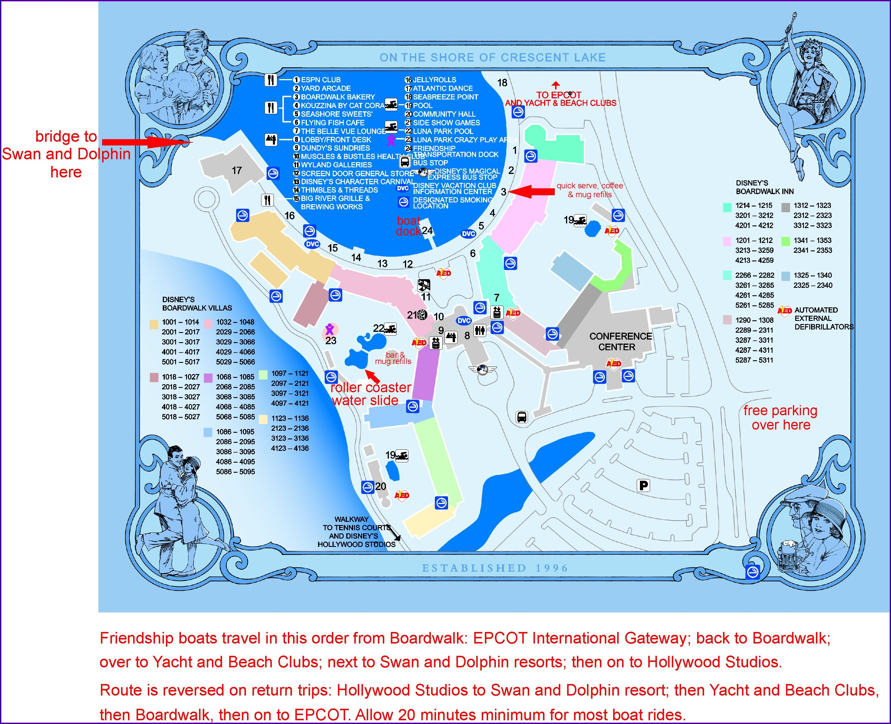 Disney Boardwalk Resort Room Map