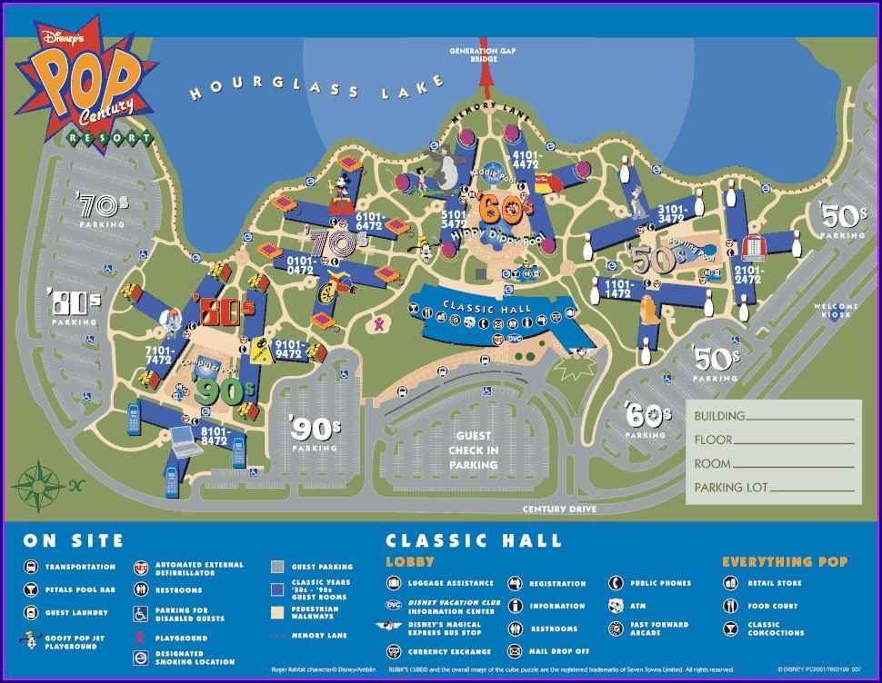 Disney Boardwalk Villas Resort Map