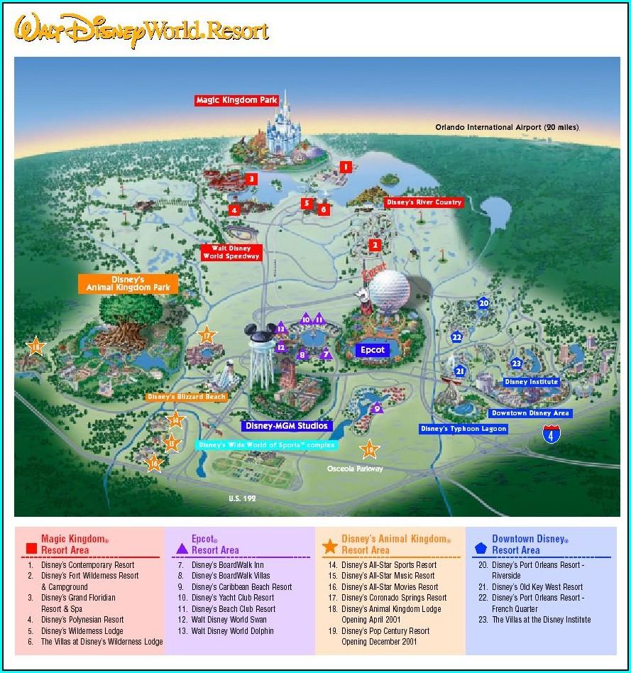 Disney Park Maps By Mail