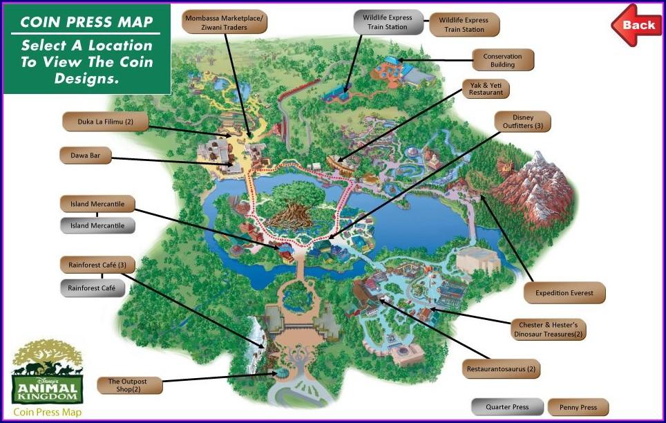 Disney Penny Press Map