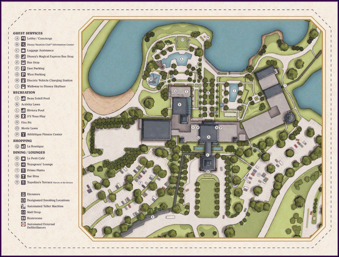 Disney Riviera Resort Location Map