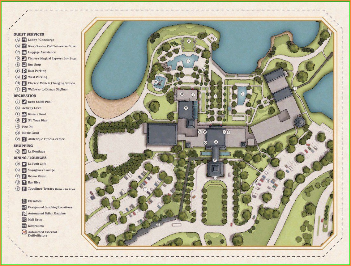 Disney Riviera Resort Map