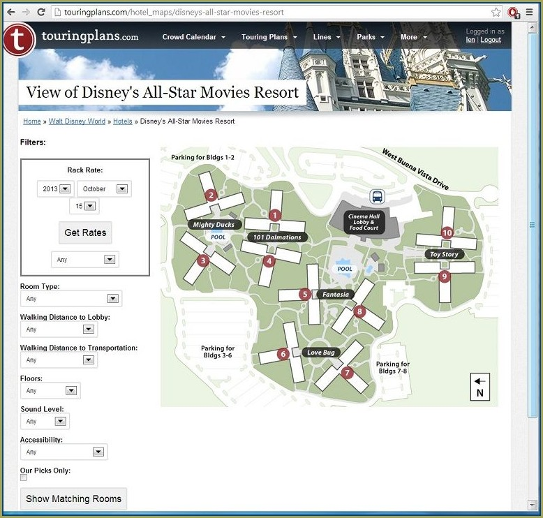 Disney World All Star Movies Resort Map