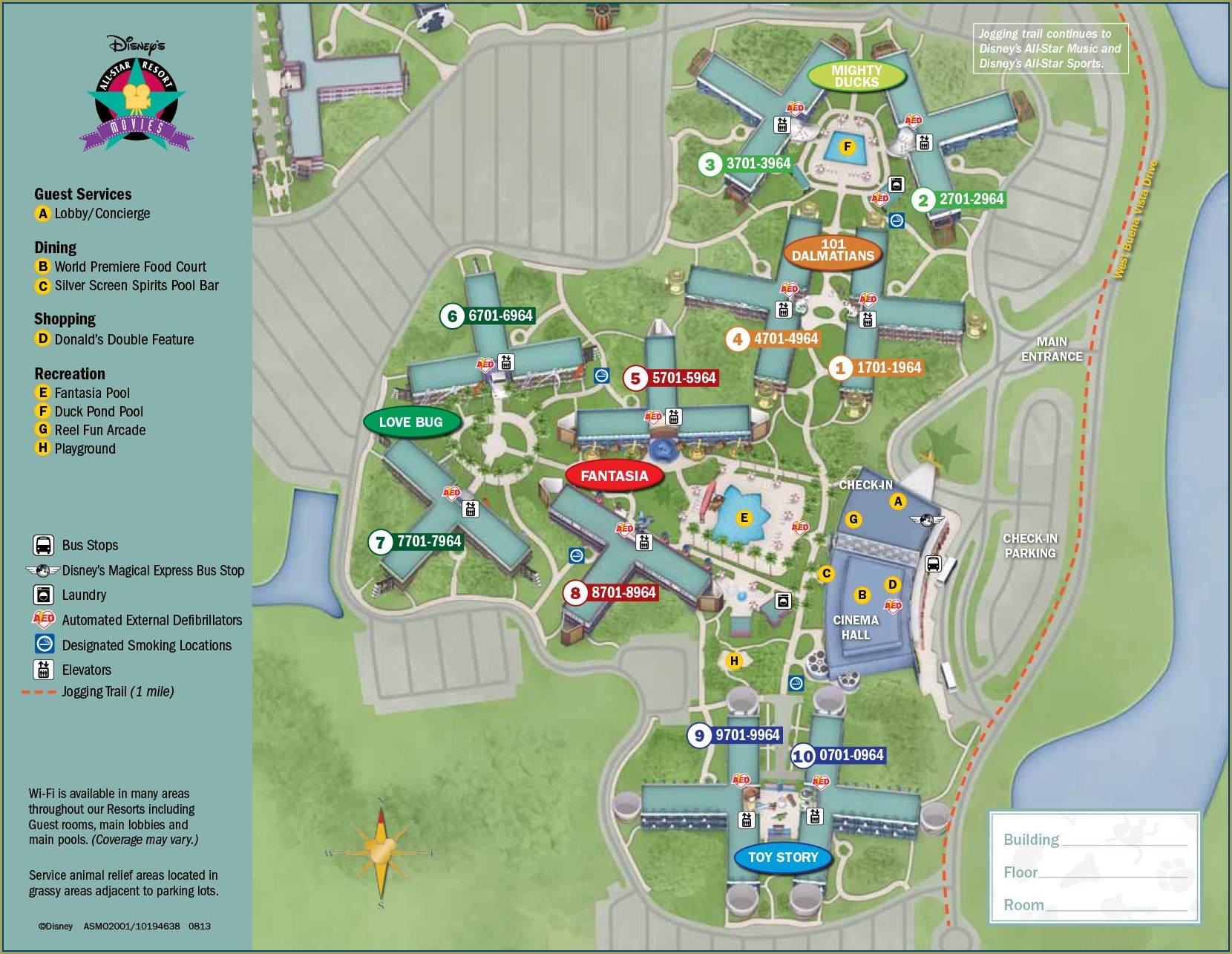 Disney World All Star Resort Map