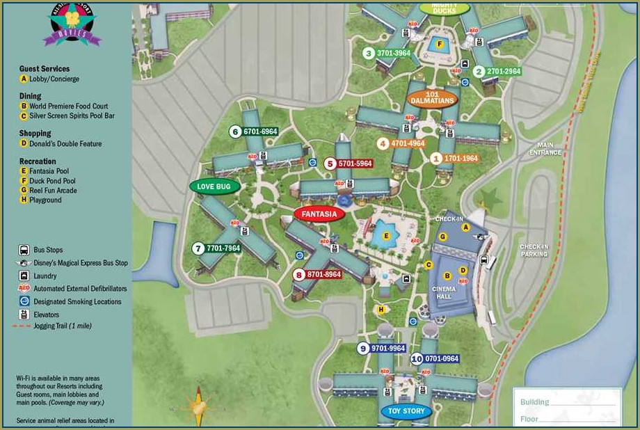 Disney World Caribbean Beach Resort Map