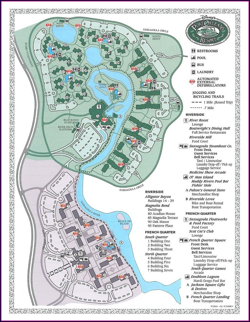 Disney World French Quarter Map