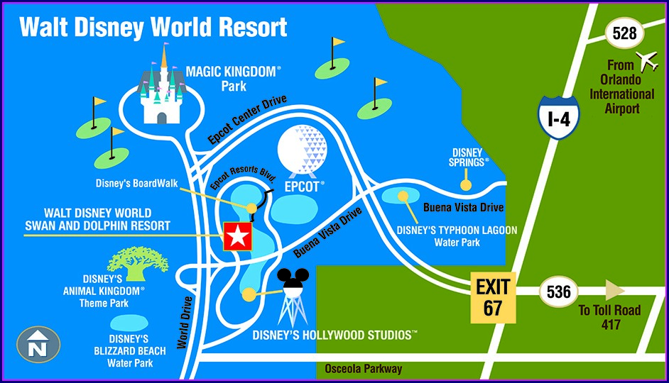 Disney World Resort Hotels Map
