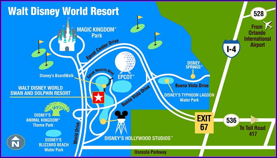 Disney World Resort Hotels Map
